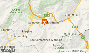 Map Saint Gervais Mont-Blanc Apartment 58539