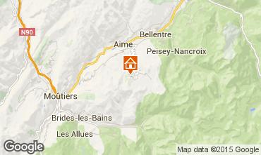 Map La Plagne One-room apartment 59172
