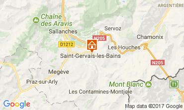 Map Saint Gervais Mont-Blanc Apartment 112570