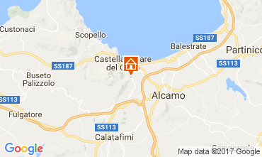 Map Castellammare del Golfo Villa 108381