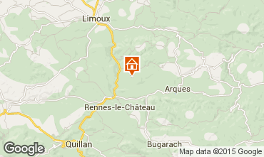 Map Limoux Vacation rental 91045