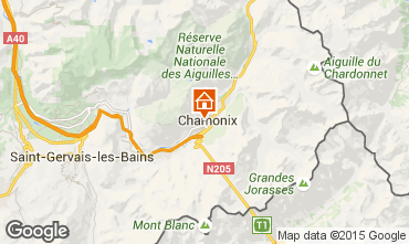 Map Chamonix Mont-Blanc Apartment 669