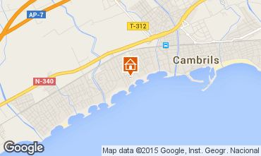 Map Cambrils Apartment 9716