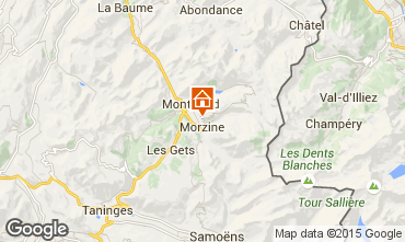 Map Morzine One-room apartment 87233