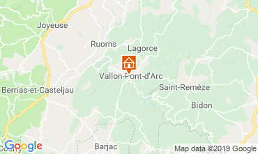 Map Vallon-Pont-D'Arc Vacation rental 119281