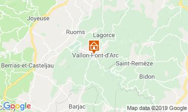Map Vallon-Pont-D'Arc Vacation rental 119281