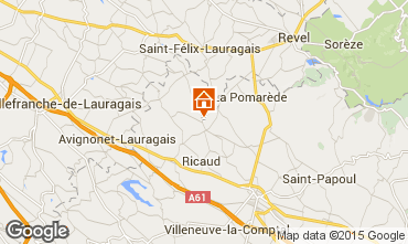 Map Carcassonne Vacation rental 84754