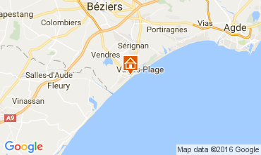 Map Valras-Plage Apartment 106263