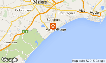 Map Valras-Plage Apartment 10168