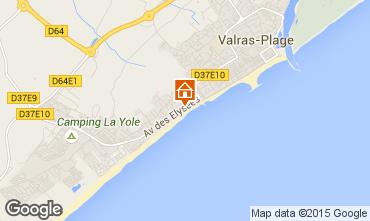 Map Valras-Plage Apartment 10168