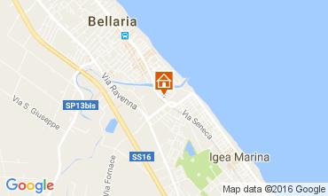 Map Bellaria Igea Marina Apartment 71681