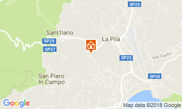 Map Campo nell'Elba Apartment 115069