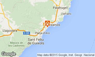 Map Sant Antoni de Calonge Apartment 98168