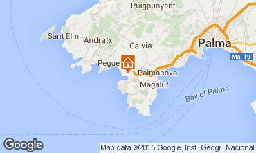 Map Santa Ponsa Apartment 83594