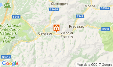 Map Val di Fiemme Apartment 109495