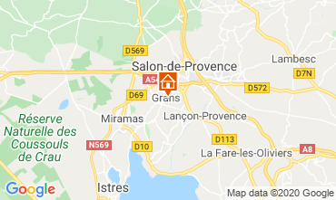 Map Salon de Provence Vacation rental 12967
