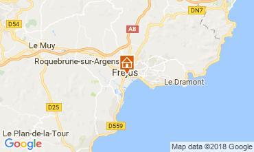 Map Fréjus One-room apartment 105544