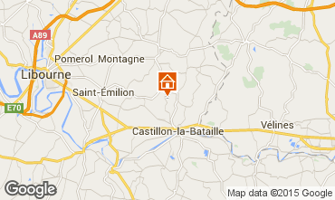 Map Saint Emilion Vacation rental 89660