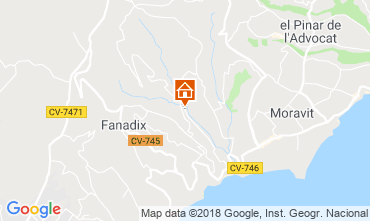 Map Moraira Villa 109716