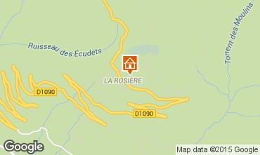 Map La Rosière 1850 Apartment 100636