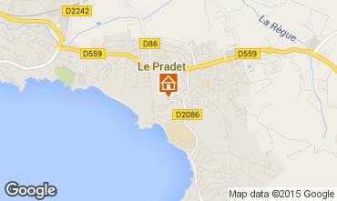 Map Le Pradet Apartment 11579