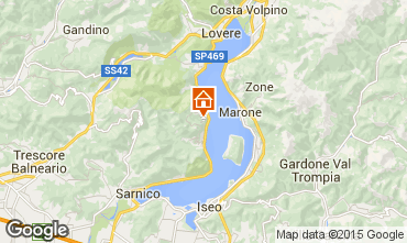 Map Parzanica Apartment 90943