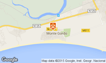 Map Monte Gordo Apartment 83166