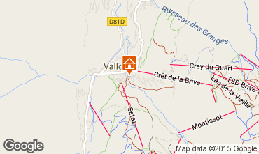 Map Valloire Villa 81297