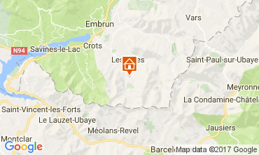 Map Les Orres One-room apartment 66912