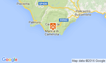 Map Marina di Camerota Apartment 77794