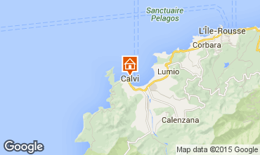 Map Calvi One-room apartment 85474