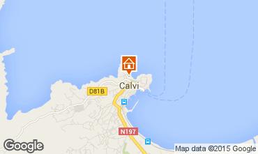 Map Calvi One-room apartment 85474