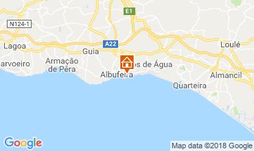 Map Praia da Oura Apartment 116116