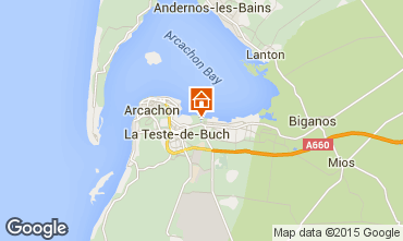 Map Arcachon House 61302