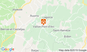 Map Vallon-Pont-D'Arc Apartment 32319