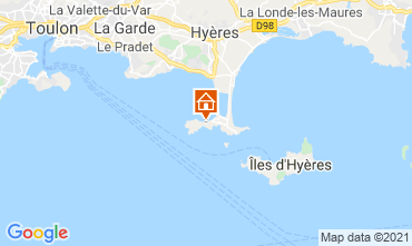 Map Hyères Vacation rental 81394