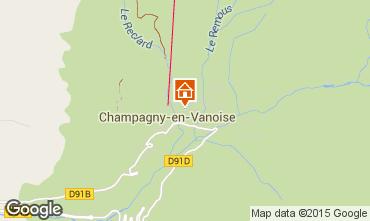 Map Champagny en Vanoise Vacation rental 586
