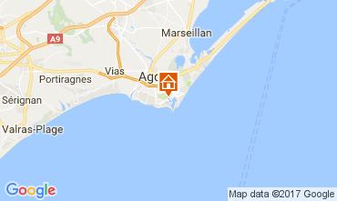 Map Cap d'Agde Apartment 70263