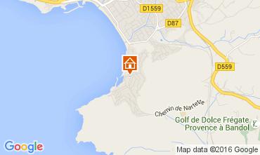 Map Saint Cyr sur Mer One-room apartment 105596