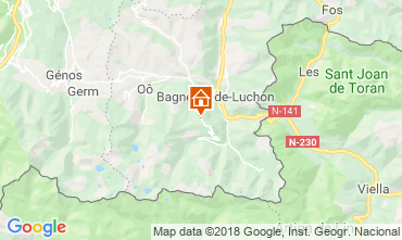 Map Luchon Superbagneres One-room apartment 4251