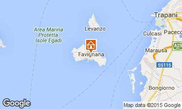 Map Favignana Apartment 68233