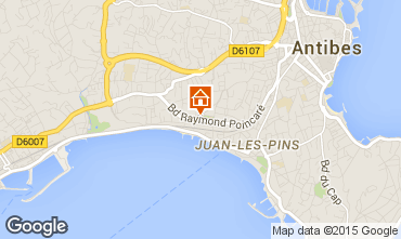 Map Juan les Pins Apartment 68767