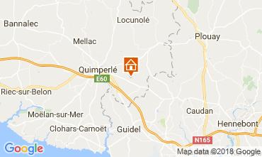 Map Quimperlé Vacation rental 115151