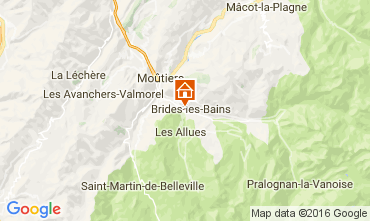 Map Brides Les Bains One-room apartment 106467