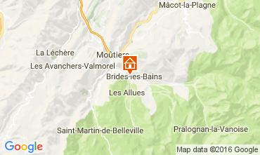 Map Brides Les Bains One-room apartment 106467