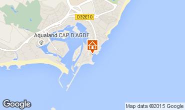 Map Cap d'Agde One-room apartment 100361