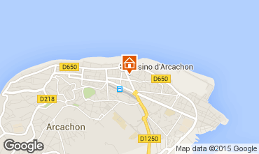 Map Arcachon One-room apartment 81586