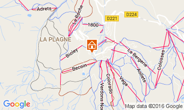 Map La Plagne One-room apartment 107514