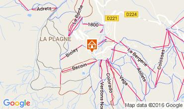 Map La Plagne One-room apartment 107514
