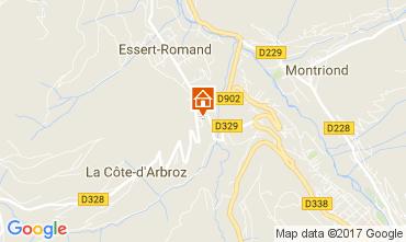 Map Morzine Chalet 112228